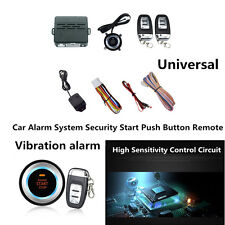 8Pcs Car Start Security System Push Button Remote Start Kit With Vibration Alarm