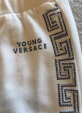 Young Versace White Embellished Leggings NWT Size XS