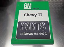 "CHEVY II MASTER PARTS CATALOG 62-66 ""March 66 printing"""