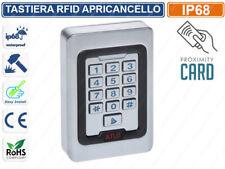 TASTIERA METALLO RFID APRICANCELLO SERRATURA A COMBINAZIONE TAG BADGE IP68