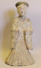 "Museum Quality 20"" Tang Dynasty Art Pottery Statue of Woman  c. 900 AD"