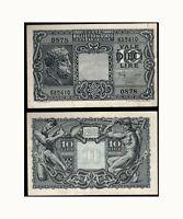 ITALY, 10 LIRE, 1935, FACIST BENITO BANKNOTE, IT00-B