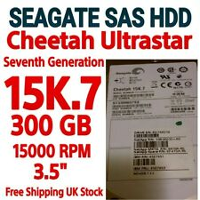 "2XSEAGATE ST3300657SS CHEETAH 15K.7 300GB SAS 15000 RPM 3.5"" HDD Ultrastar 6GB/S"