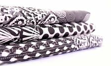 10 Yard Cotton Indian Craft Screen Printed Fabric Natural Patchwork Print Fabric