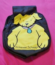PRIMROSE SCHOOLS Black Backpack Yellow Dog,kindergarten