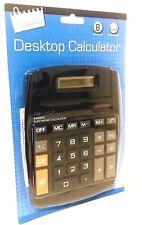 Just Stationery Solar Power Large Display Desk Top Calculator Big Pop Up Display