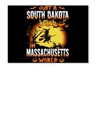 Just A South Dakota Witch In Massachusetts World Sticker - Landscape