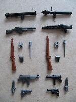 Brickarms - Pack II Guerra Mundial/WWII - Armas para LEGO, Mega Bloks