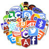 Developer, Programmer 50ps Stickers of Programming Languages and Internet Brands