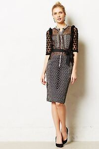 NEW Anthropologie Maura Sheath by Contrarian  Size 2-4-12