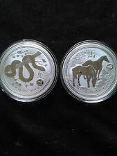 2 Coin Lot - Australian Lunar Privy Starting Collectors Lot - Snake and Horse