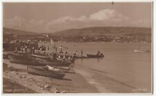 Dorset; Swanage RP PPC By Judges, 1927 PMK, Shows Boats On Foreshore