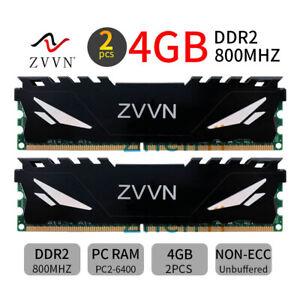 8GB 2x 4GB 800MHz DDR2 PC2-6400U 240Pin DIMM Desktop PC RAM F2-6400CL6D-8GBMQ DE