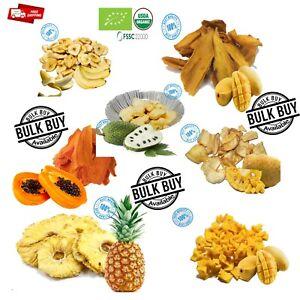 Dried Fruit strip 100% Organic Mango Pineapple Banana Papaya Avocado jack fruit