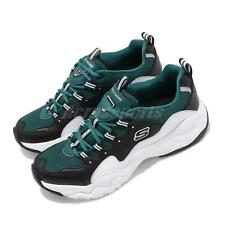 Skechers D Lites 3-Silverwood Black Green White Men Chunky Daddy Shoe 52685-BKGR