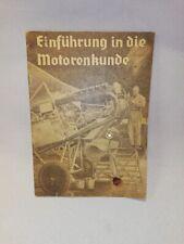 Lehrheft,Luftwaffe, Einführung in die Motorenkunde für Flugzeugmotoren,WW2 WK2