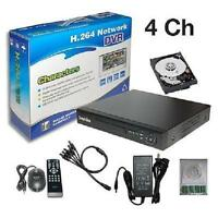 Sunvision 4Ch CCTV Real-time Surveillance CIF H.264 Network DVR + 500GB HDD