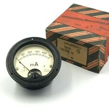 0-500MA DC PANEL METER AMMETER MADE IN ITALY  NOS