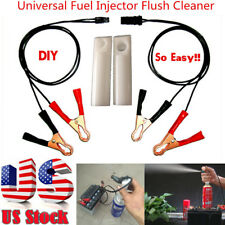 Auto Car Fuel Injector Flush Cleaner Adapter DIY Cleaning Tool Kit Set NEW