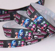 "7/8 "" 22mm MONSTER HIGH PRINTED GROSGRAIN RIBBON  3YARDS/DIY HAIRBOW"