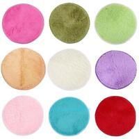 Soft Plush Circle Round Rug Non-Slip Solid Bedroom Mat Washable Floor Carpet <