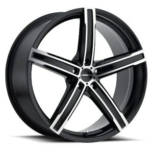 15X6.5 Vision 469 Boost 5x114.3 ET38 Black Machined Face Wheels (Set of 4)