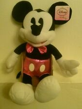 NWT! Disney Sitting Plush Mickey Mouse with Bow Tie 16 inch