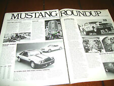1979 FORD  MUSTANG INDY INDIANAPOLIS 500 PACE CAR   ***ORIGINAL ARTICLE***