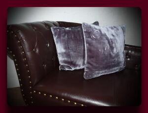 Kissen Kissenhülle Dekokissen im Glanz - Design Farbe grau / anthrazit