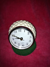 "Papel Giftware Golf Ball On The Green Desk Clock 5"" High X 4"" Great Gift!"