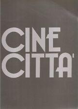 LIBRO RIVISTA MAGAZINE - CINECITTA' - ITALIANO INGLESE FRANCESE - 1987