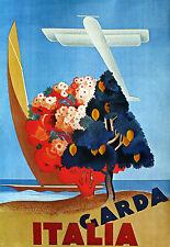 Art Poster - Italia - Italy - Garda Travel Vacation Holiday  A3 Print
