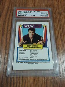 1990 WCW Slam-A-Rama Scott Steiner Rookie Wrestling Game Card PSA 10 WWE NWA TNA
