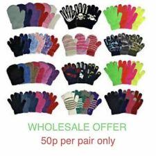 60 Pairs Mixed Magic Gloves Unisex Boys Girls Winter one size Wholesale Job lot