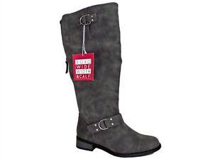 XOXO Women's Minkler Riding Boots Grey Size 6.5 Wide Width & Calf