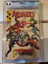 AVENGERS #53 CGC 9.4 OFF WHT-WHITE 1ST X-MEN AVENGERS COROSSOVER MARVEL COMICS