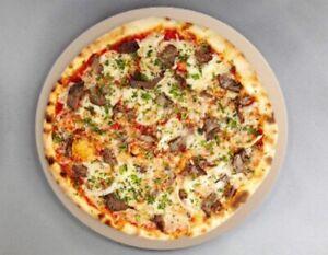 Hochwertiger Pizzastein Rund 38cm Durchmesser für Gasgrill und Backofen