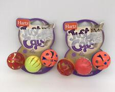 LOT OF 2 Hartz Cat Toy Bizzy Balls. 6 Balls Total! Brand New!