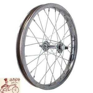 "WHEEL MASTER   16"" x 1.75"" CHROME BICYCLE FRONT WHEEL"