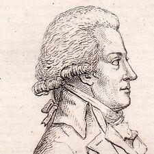 Portrait XIXe Antoine Barnave Grenoble Isère Révolution Française Dauphiné 1822