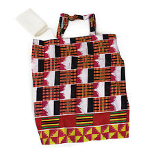 African Kente Print Tote Travel Bag with pouch Africa apkt4