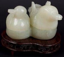 La Chine 20. JH. deckeldose-a Chinese jade Ducks double Box-chinois Giada cinese