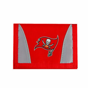 NEW Tampa Bay Buccaneers Football League Licensed Nylon Tri-Fold Chamber Wallet