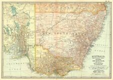 SOUTH EAST AUSTRALIA. Victoria, New South Wales, South Australia 1903 old map