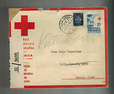 1943 Lisbon Portugal censored cover to Buenos Aires Argentina Red cross