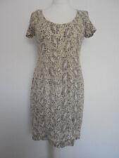 NOA NOA Grey  Cream Summer Broderie Anglaise Pencil Dress Size M Medium ❤