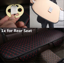 1x Car Rear Seat Cover Cushion PU Leather Mat Universal Bench Protector BLK/Red