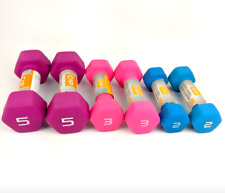 Dumbbell Weight Set of 2 3 5 lbs 20 lbs Total - CAP Hex Neoprene - Fast Shipping