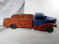 Buddy L Shark Nose Stake Truck Pressed Steel Wooden Wheels