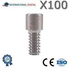 Lot Of 100 Screw For Multi Unit Abutment Dental Implant Titanium